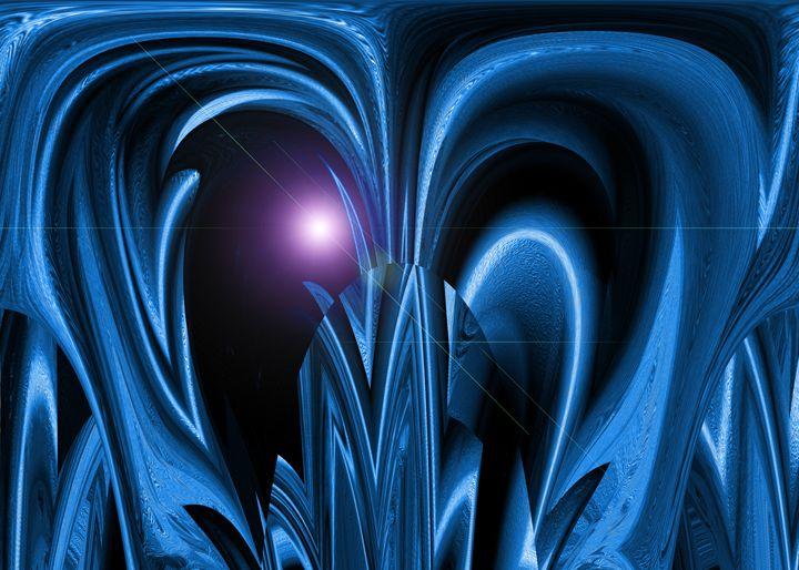 Blue Space Plant - Colorquest Digital