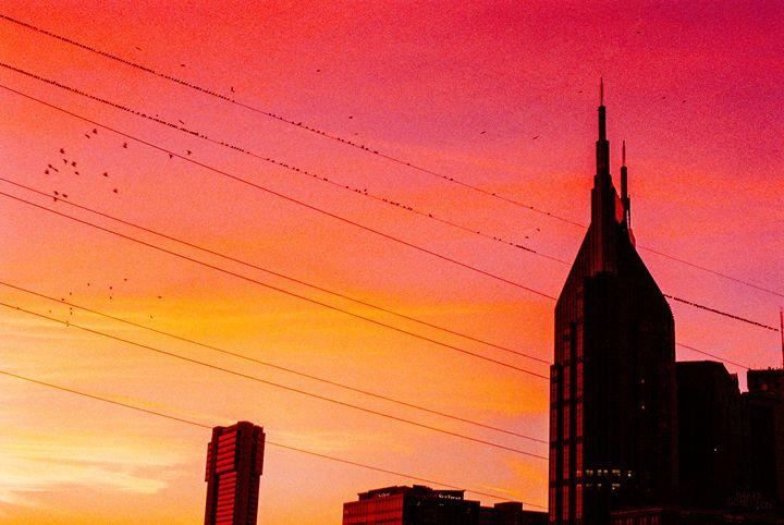 Batman Building at Sunset - Jay Kim Photography