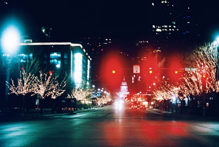 Bright Lights of N Congress Ave - Jay Kim Photography