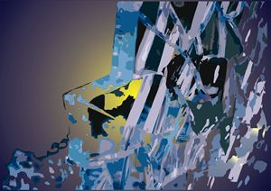 Abstract Art - Broken Glass