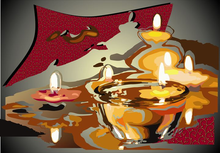 Abstract Art - Candles - Stojanovska Emilija