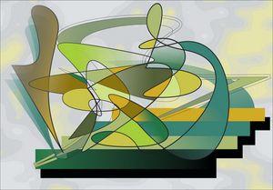 Irregular Green - ArtDecoEmma