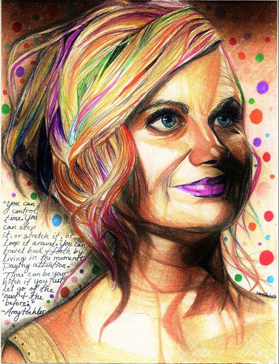 Amy Poehler Color Splash - DARIEN RACHELLE ART