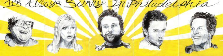 It's Always Sunny Giant Banner - DARIEN RACHELLE ART