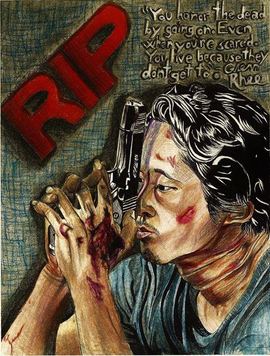 Glenn Rhee RIP - DARIEN RACHELLE ART