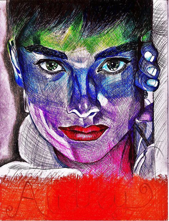Audrey Hepburn Pen Portrait - DARIEN RACHELLE ART