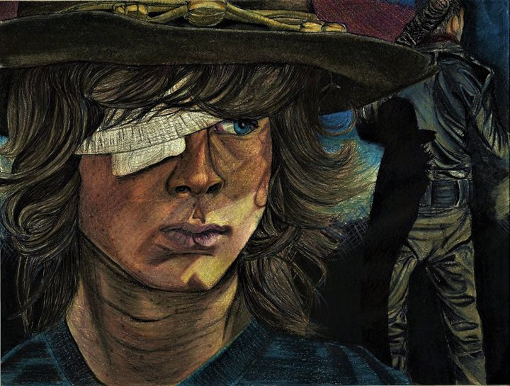 Carl Grimes and Negan - DARIEN RACHELLE ART