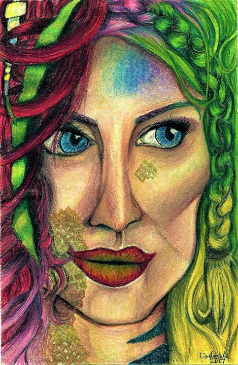 Rainbow Mermaid - DARIEN RACHELLE ART