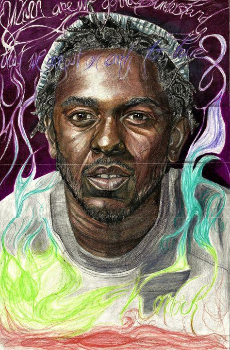 Kendrick Lamar Smokey - DARIEN RACHELLE ART