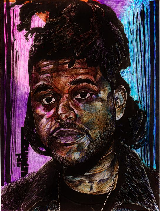 The Weeknd Color Streak - DARIEN RACHELLE ART