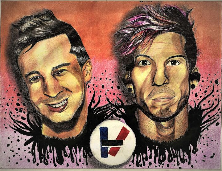 Twenty-One Pilots Watercolor Splash - DARIEN RACHELLE ART