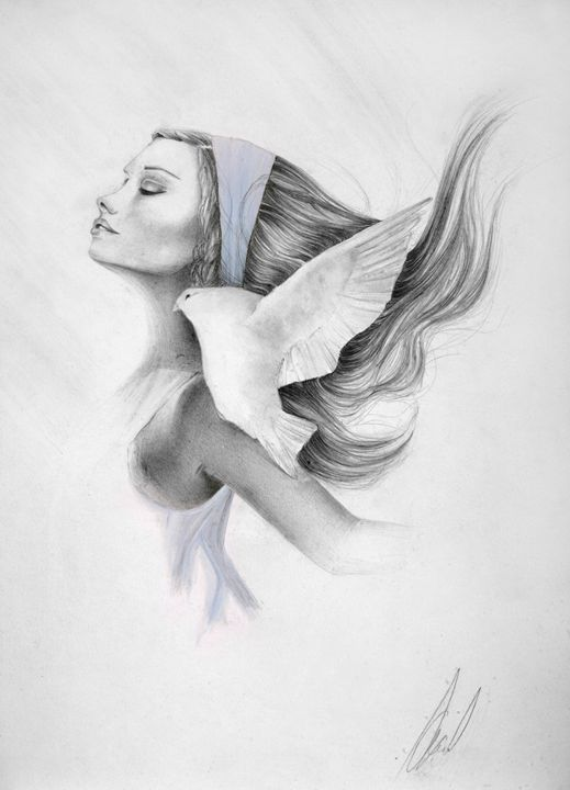 The Angel - Paintings