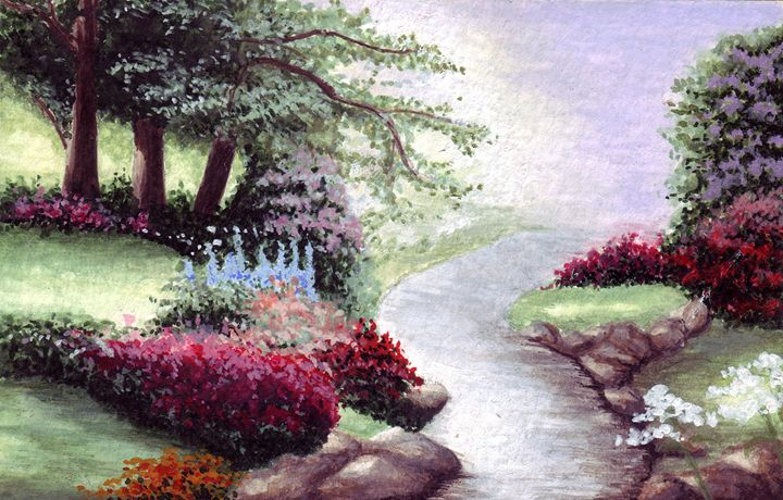 Nature and river - Paintings