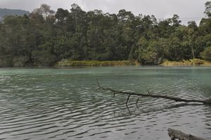 Telaga warna - Sulfur lake - Java
