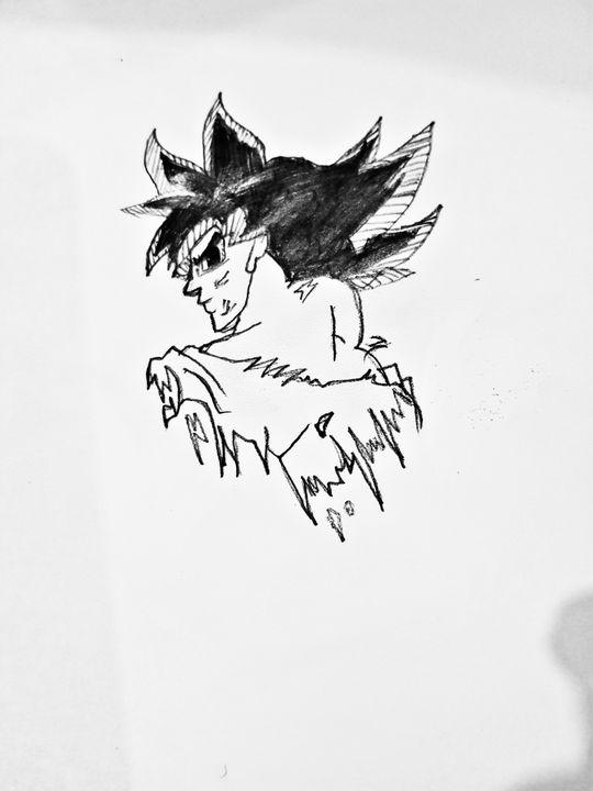 Goku sketch. - CuteButPsycho