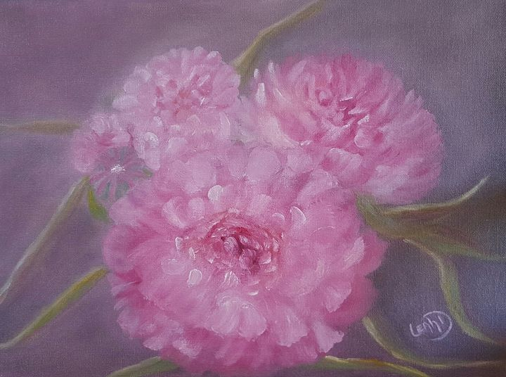 Peony for your thoughts. - Leah Dennis Art