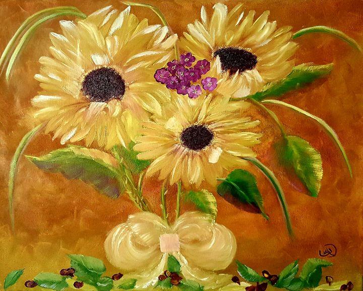 Dawn's Sunflower - Leah Dennis Art