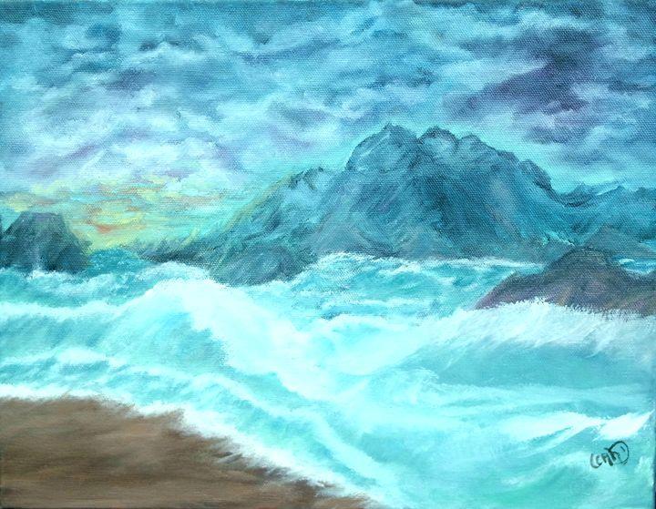 Caribbean Blue - Leah Dennis Art