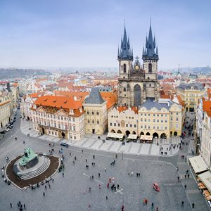 Old Town Square, Prague, Czech Repub