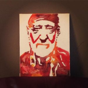 Willie Nelson Encaustic Art