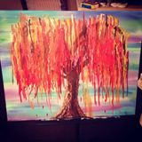 Original Painting Willow Tree