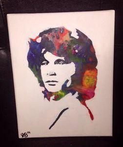 Jim Morrison Crayon Art
