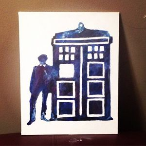 Doctor Who Tardis Crayon Art