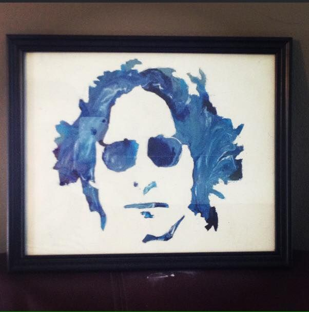 John Lennon Crayon Art - Artbucket Creations