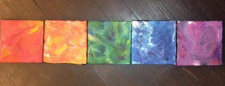 Encaustic 6x6 Canvas Squares - Artbucket Creations