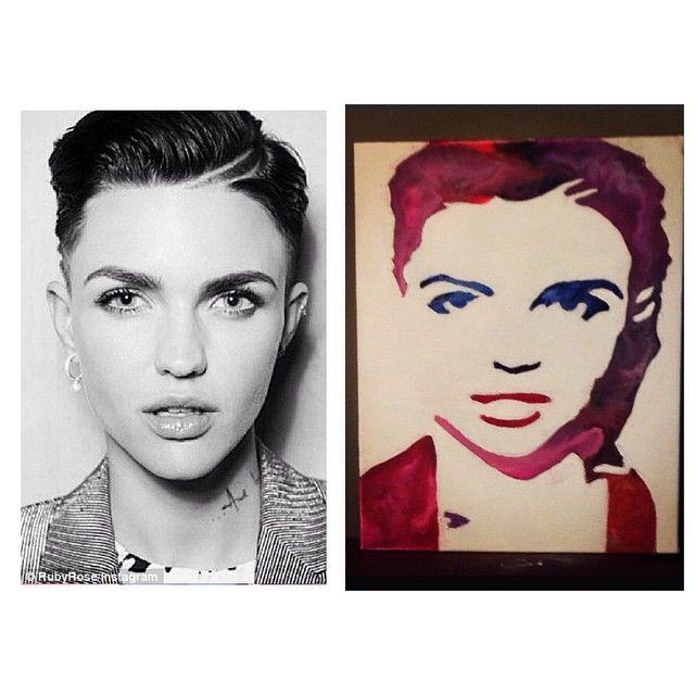Ruby Rose Crayon Art - Artbucket Creations
