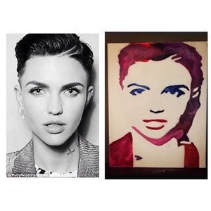 Ruby Rose Crayon Art