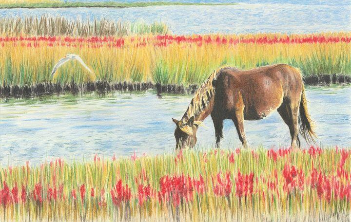 Grazing Horse - M. Scott Spence Fine Art & Illustration