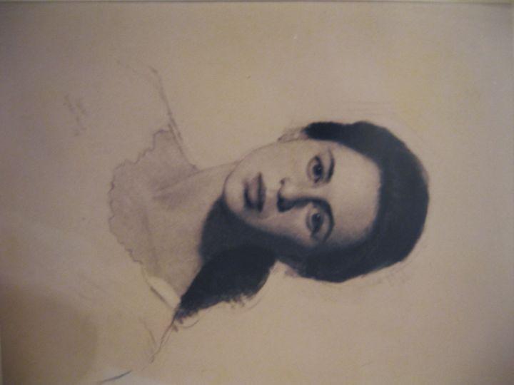 Portrait of Tara in Charcoal - Robert P