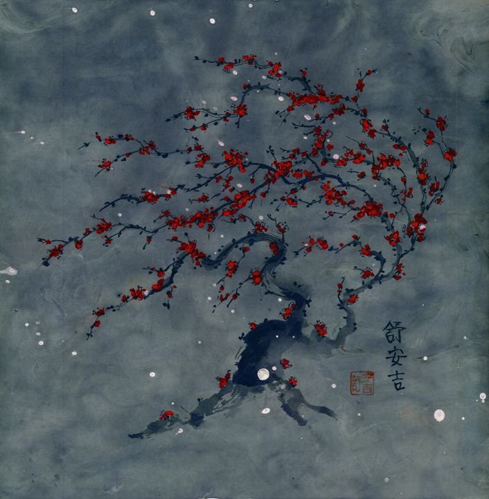 Constellation Plum Tree - Angi Shearstone Arts
