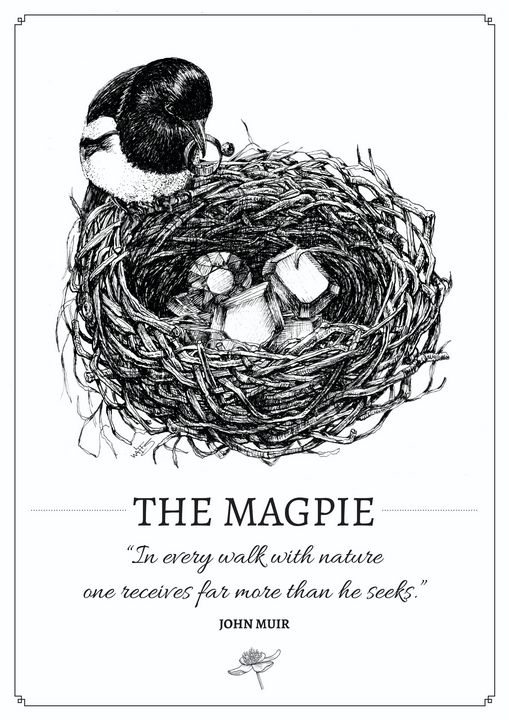 The Magpie - Gnostic Forest Art