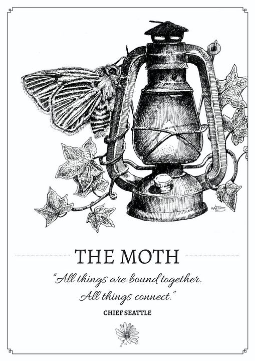 The Moth - Gnostic Forest Art