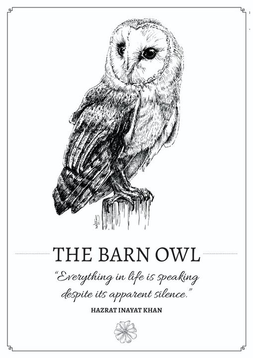 The Barn Owl - Gnostic Forest Art