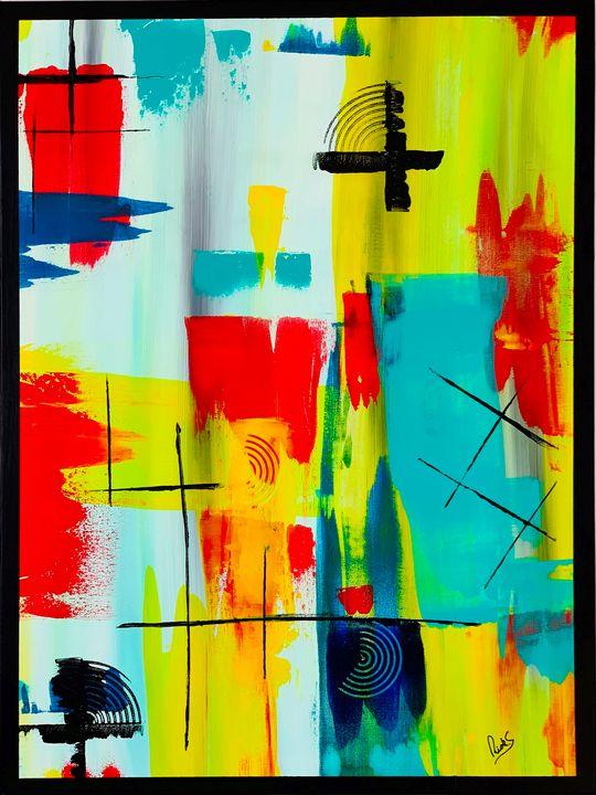 ABSTRACTION AVEC JAUNE - ricksmith-art