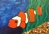 13x9 inches Clownfish acrylic