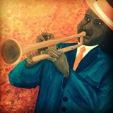 28x22in The Trumpet Player