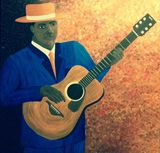 36x36in Guitar Blues acrylic