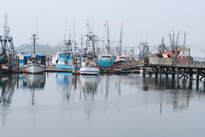 Yaquina Bay Harbor, Newport, Oregon - Rolf McEwen
