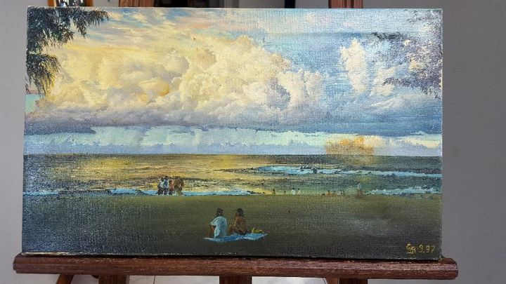 Sunset - Oil painting on canvas - Mes chefs-d'oeuvre