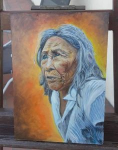 Old Colombian Woman - Painting