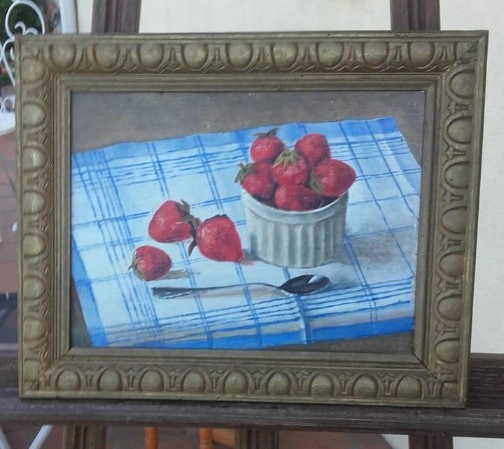 Oil painting - Strawberries - Mes chefs-d'oeuvre