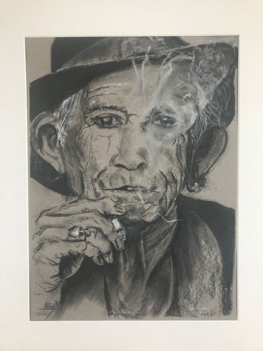 Keith Richards - Art by Alison