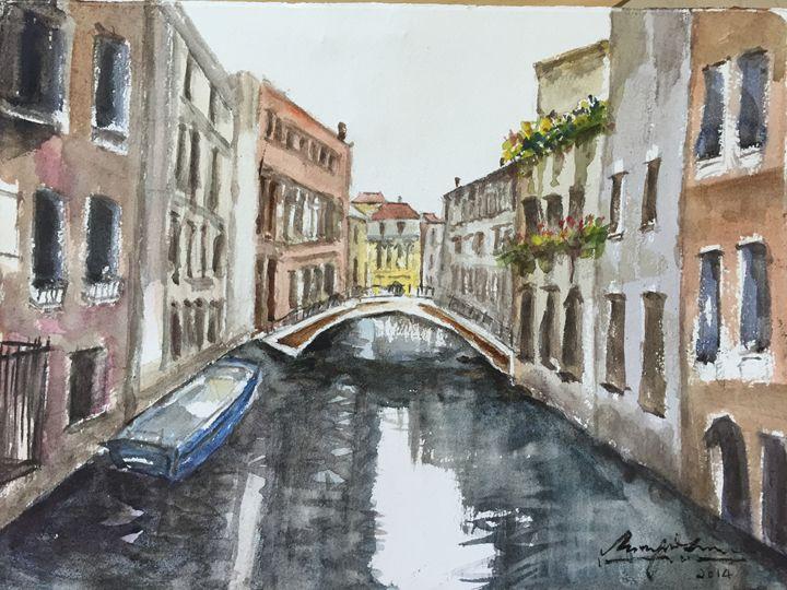 Venice - Part II - Watercolour by Margaret Lor