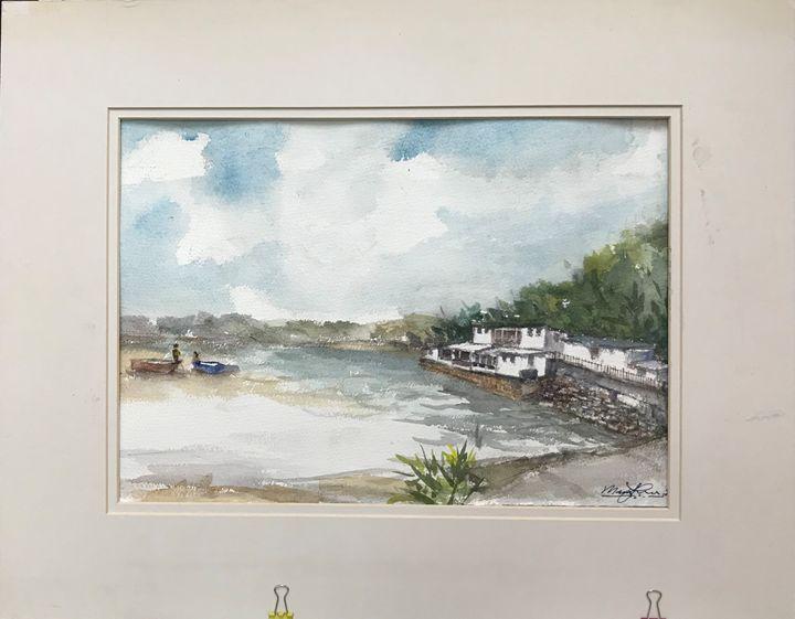 Peng Chou, Hong Kong - Watercolour by Margaret Lor
