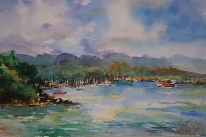 Sailing, Hong Kong - Watercolour by Margaret Lor