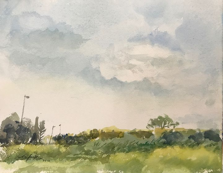 Classic English Countryside - Watercolour by Margaret Lor